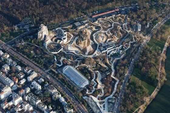 Зоологический-парк-в-Париже--с-высоты-птичьего-полета