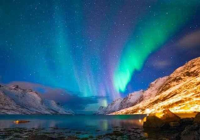 Северное-сияние,-Норвегия
