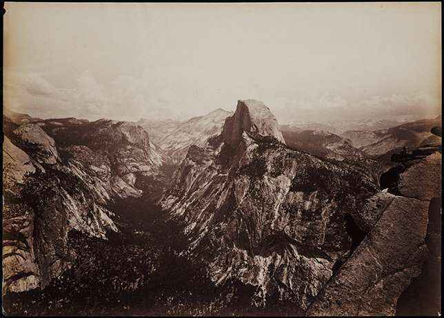10-carleton-watkins-yosemite-half-dome-vista