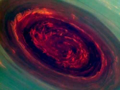 явления природы - Ураган на Сатурне