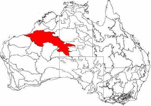 Австралийская Большая Песчаная-пустыня, карта