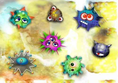 цветная картинка бактерий