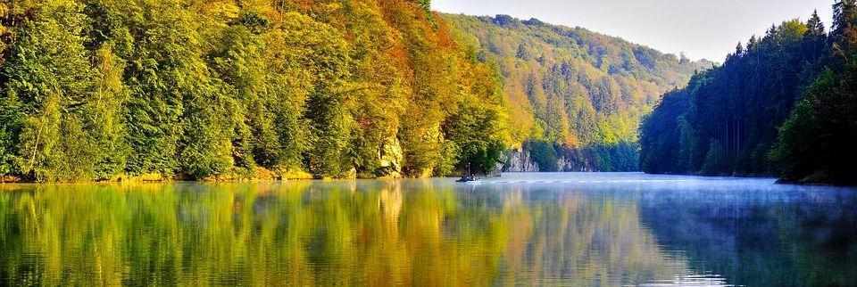 осеннее утро на реке