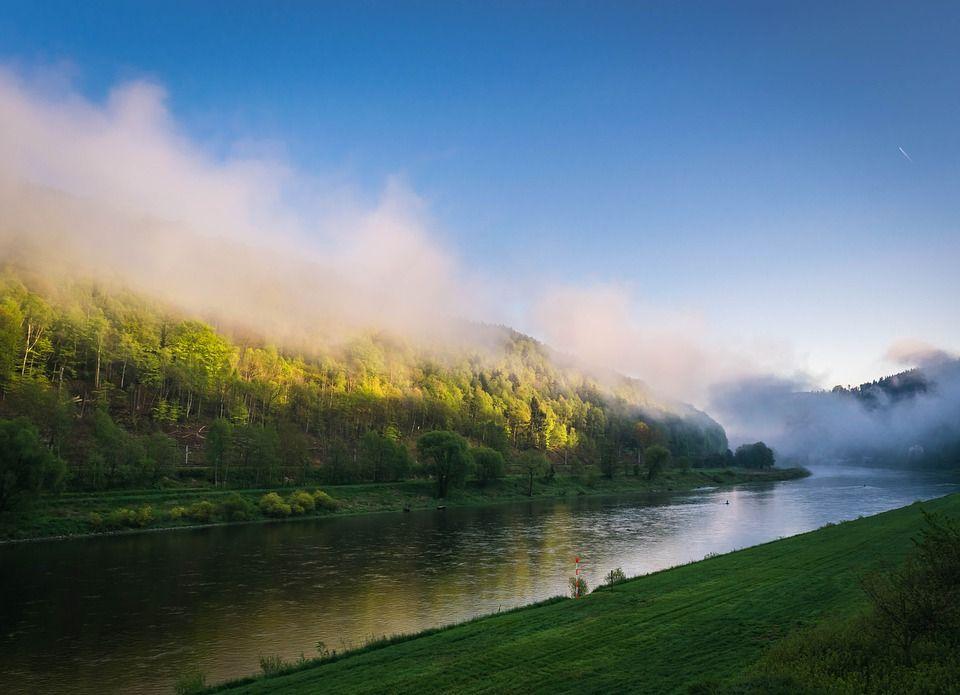 пейзаж утренней реки