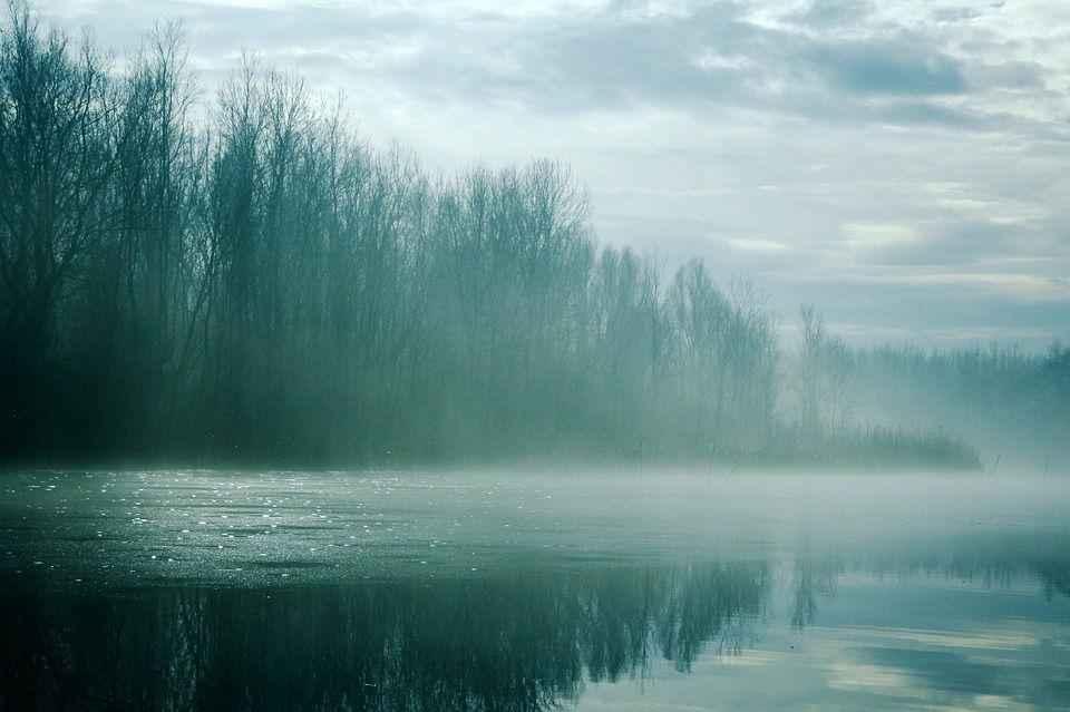 зимнее утро на реке
