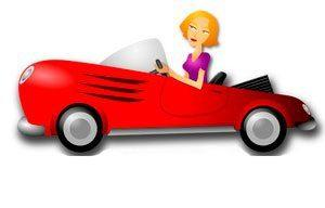 машина, женщина, транспорт, иллюстрация, рисунок