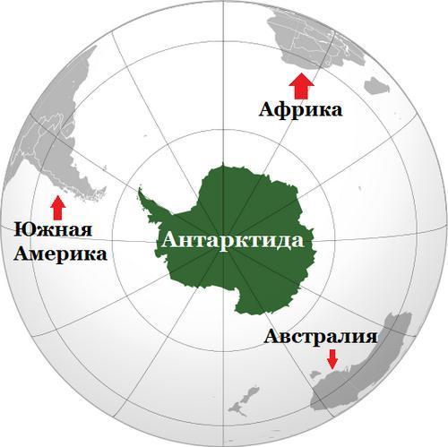 Где расположена Антарктика на карте мира? 2