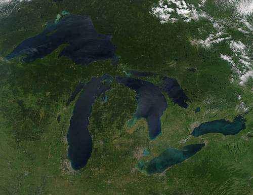 Великие озёра на территории США и Канады 2