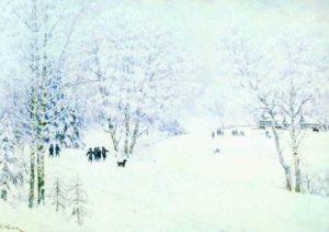 Сочинение по картинам Юона «Волшебница-зима» и «Русская зима. Лигачево» 2