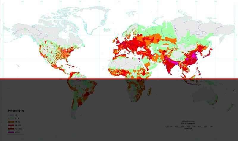 Северное полушарие Земли: характеристика, материки, океаны, климат и население 4