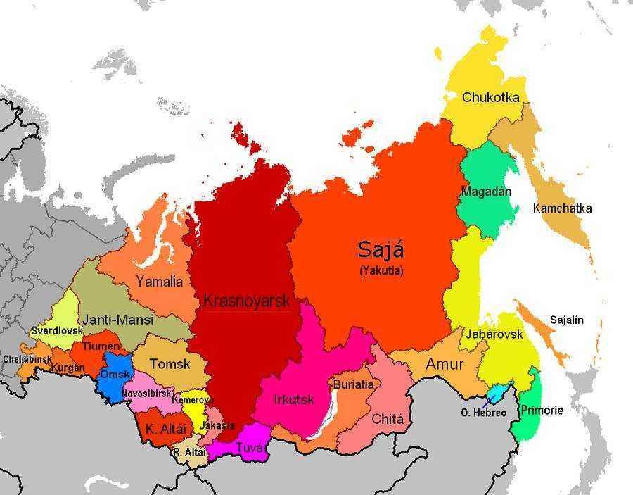 Где расположена Сибирь на карте России? 2