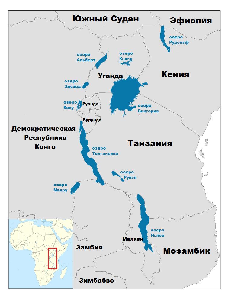 ТОП 10 самых больших озер Африки - названия, фото, площадь, размеры, глубина и расположение 12