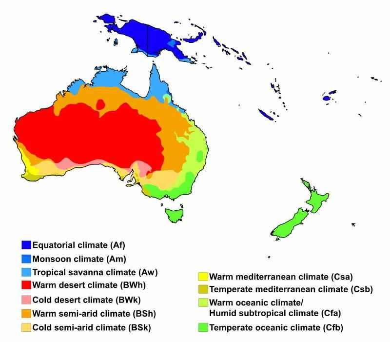 География Океании: характеристика региона, климат, животные, растения, население и страны 3