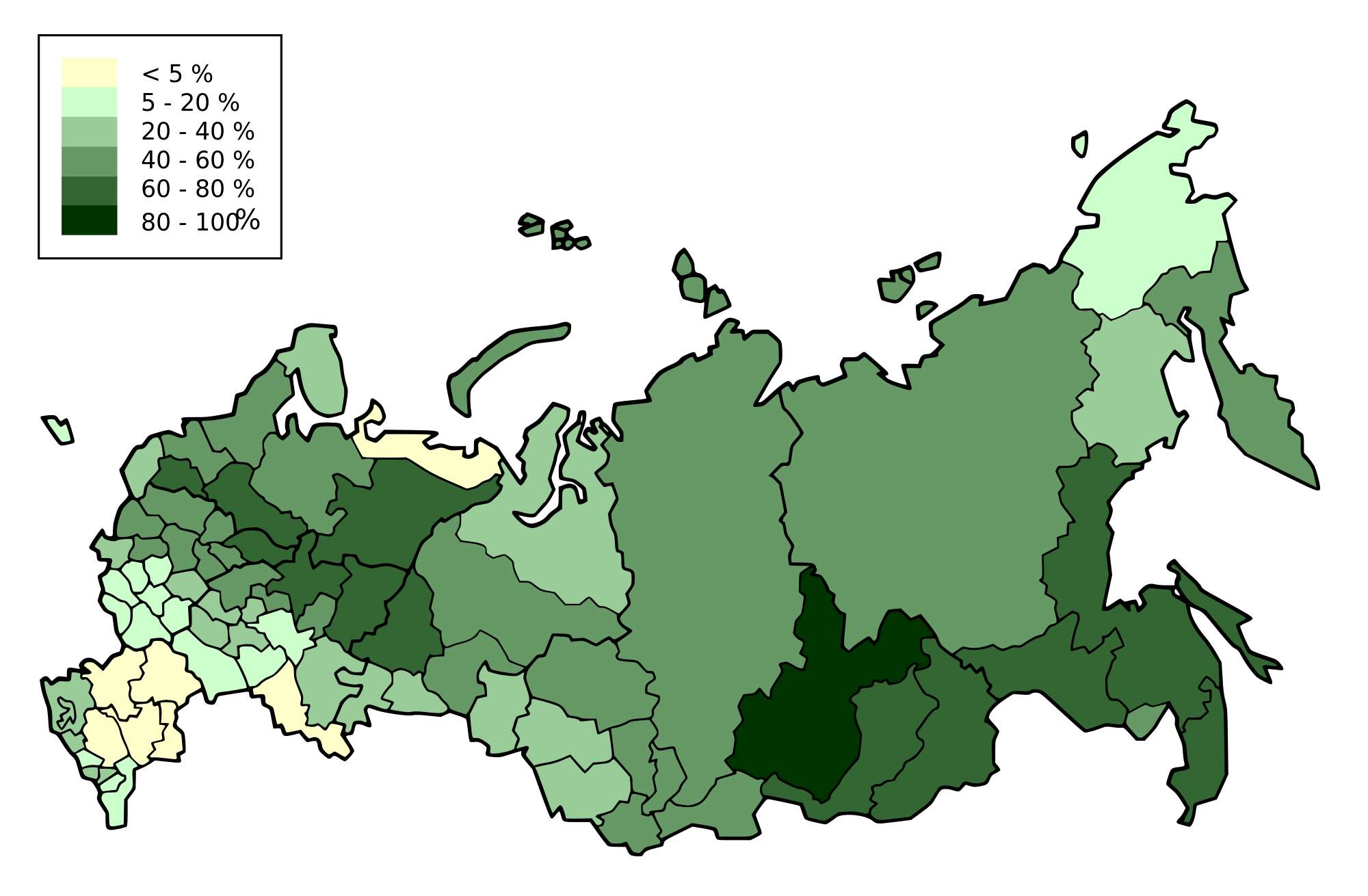 Какие леса преобладают на территории России: типы и характеристика 2