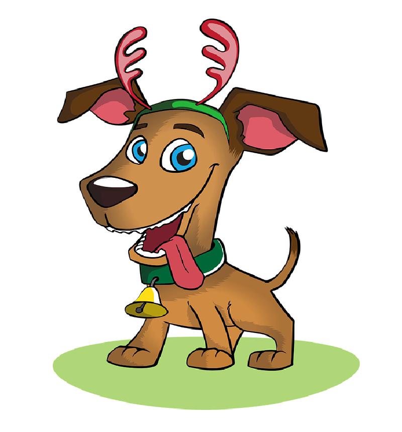Надписями ждем, смешной детский рисунок собаки