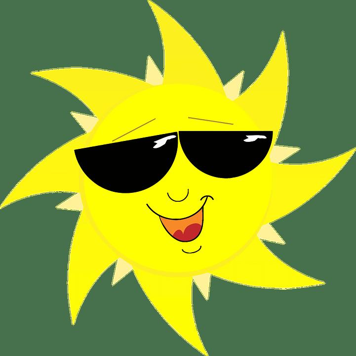 Цветные картинки веселого солнца с лучиками для детей 18