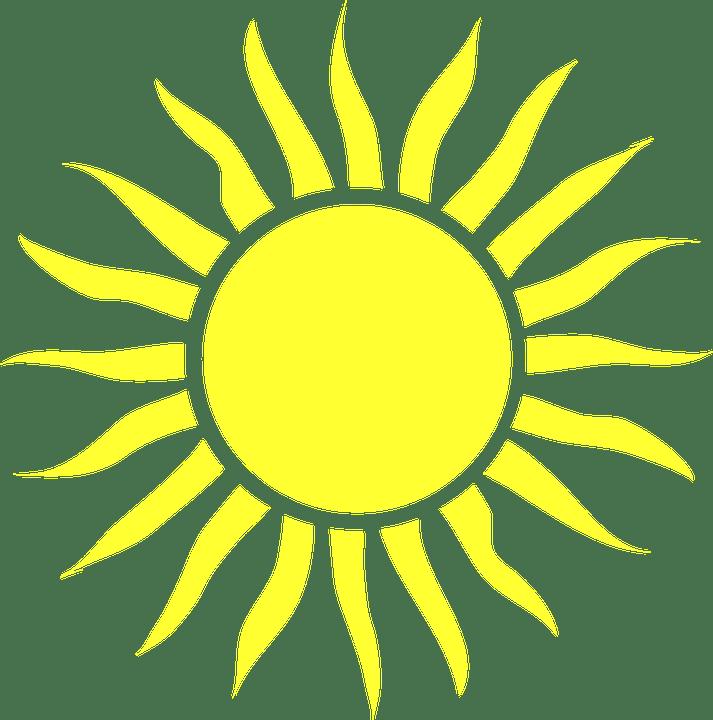 Цветные картинки веселого солнца с лучиками для детей 8