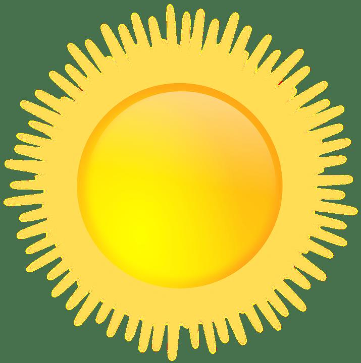 Цветные картинки веселого солнца с лучиками для детей 3
