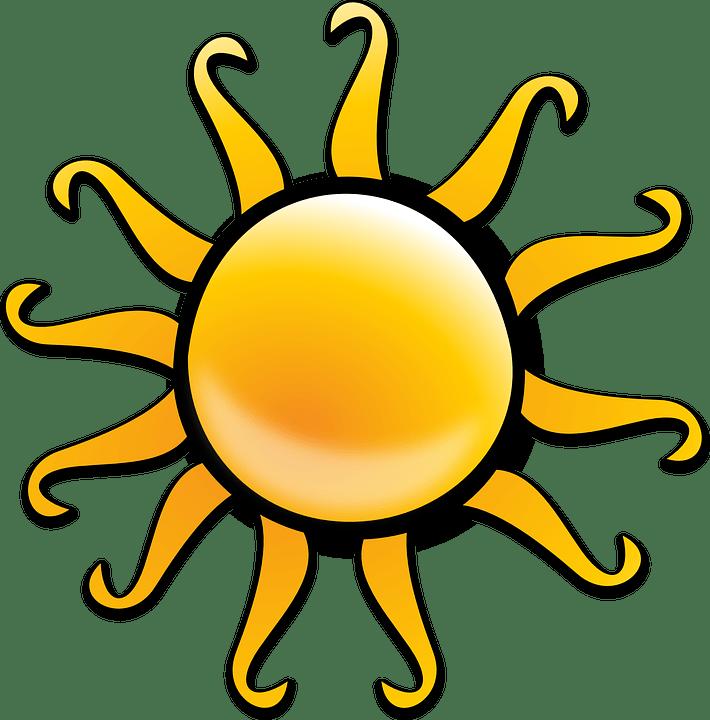 Цветные картинки веселого солнца с лучиками для детей 7