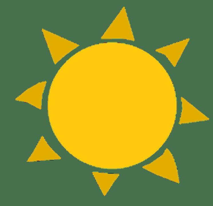 Цветные картинки веселого солнца с лучиками для детей 6