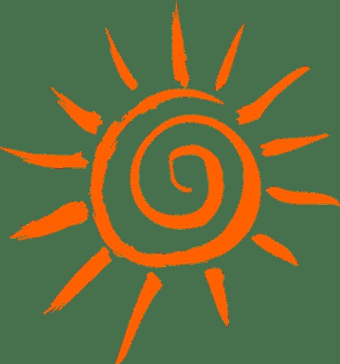 Цветные картинки веселого солнца с лучиками для детей 11