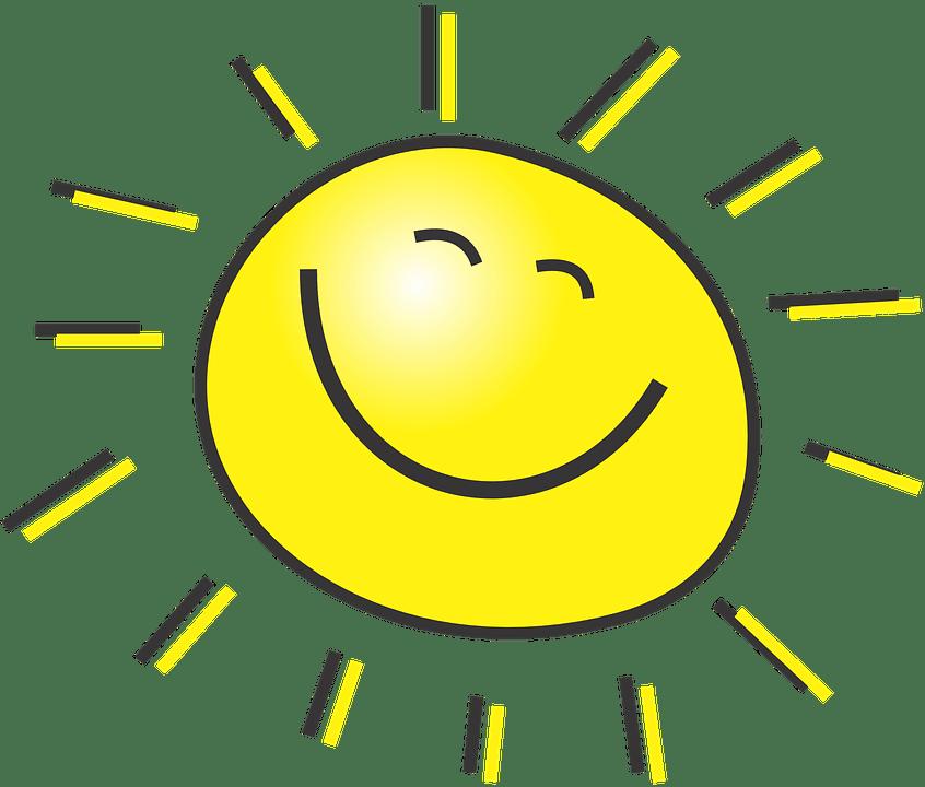 Цветные картинки веселого солнца с лучиками для детей 13