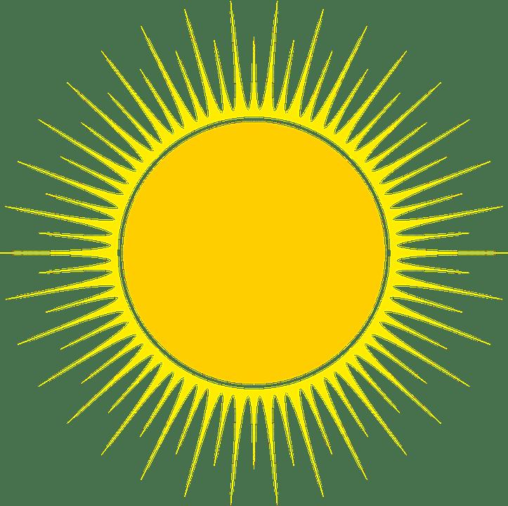 Цветные картинки веселого солнца с лучиками для детей 10