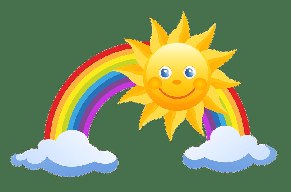 Цветные картинки веселого солнца с лучиками для детей 31