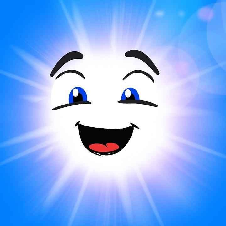 Цветные картинки веселого солнца с лучиками для детей 21