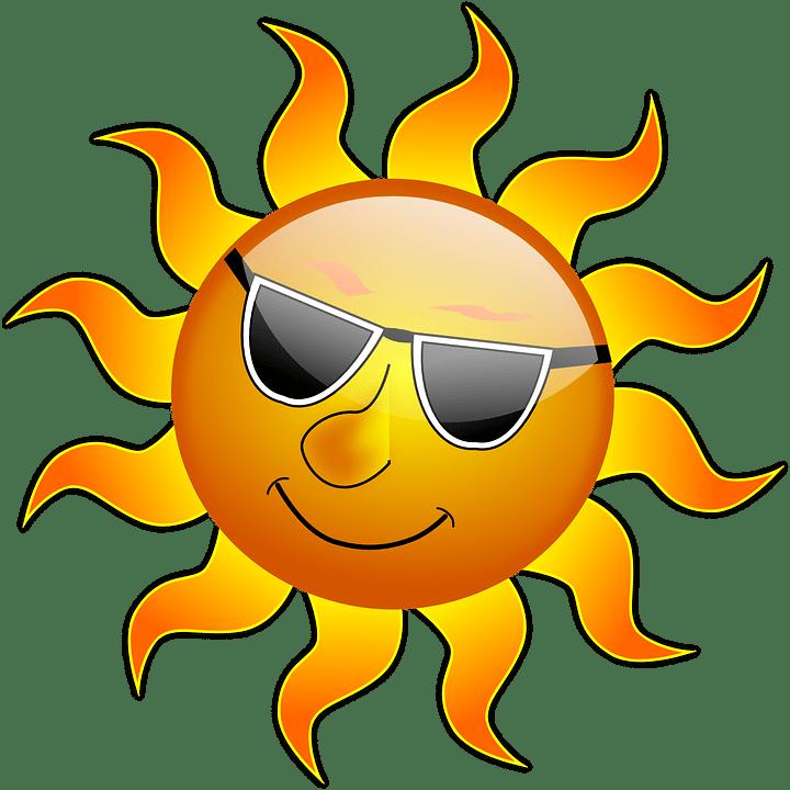 Цветные картинки веселого солнца с лучиками для детей 17
