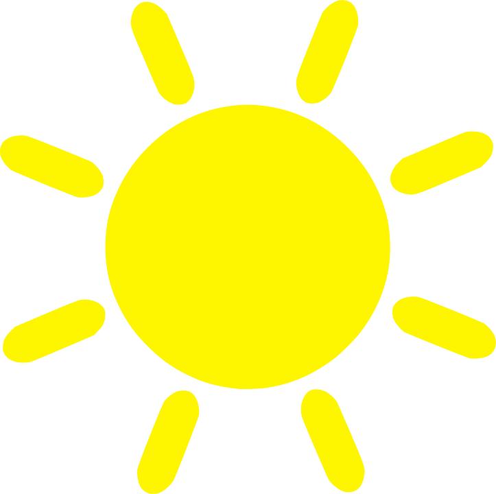 Цветные картинки веселого солнца с лучиками для детей 2