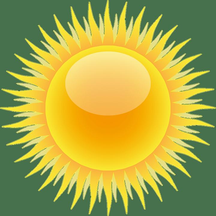 Цветные картинки веселого солнца с лучиками для детей 12