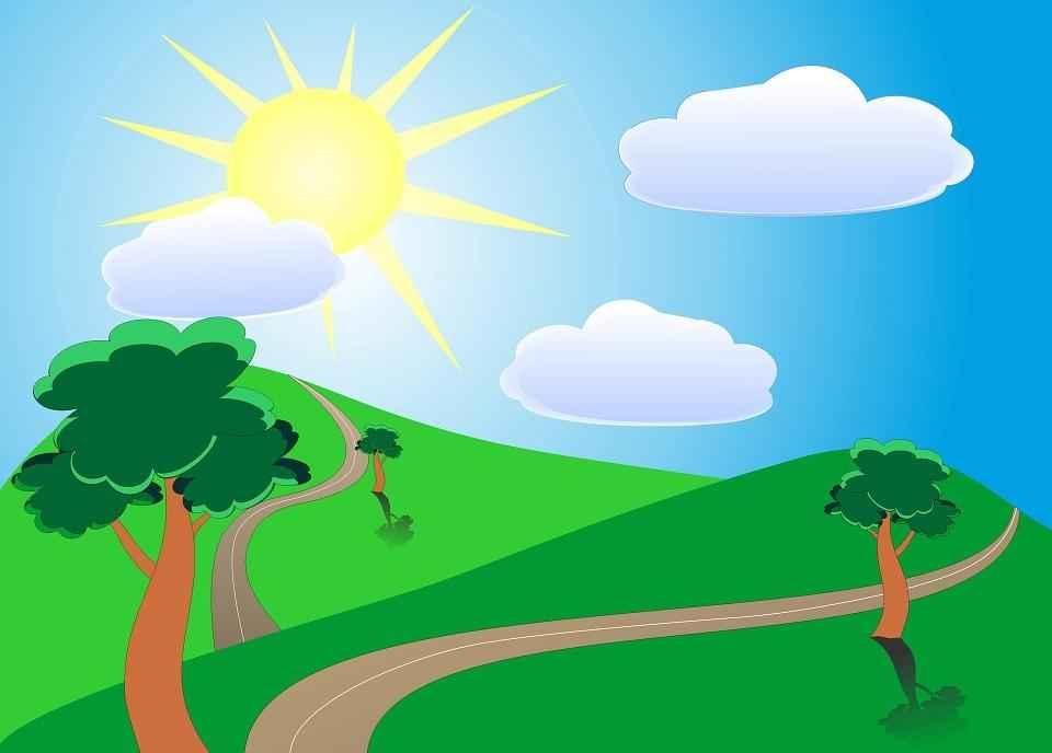 Цветные картинки веселого солнца с лучиками для детей 33