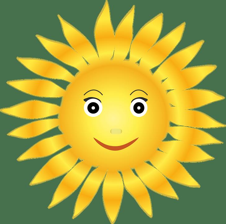 Цветные картинки веселого солнца с лучиками для детей 15