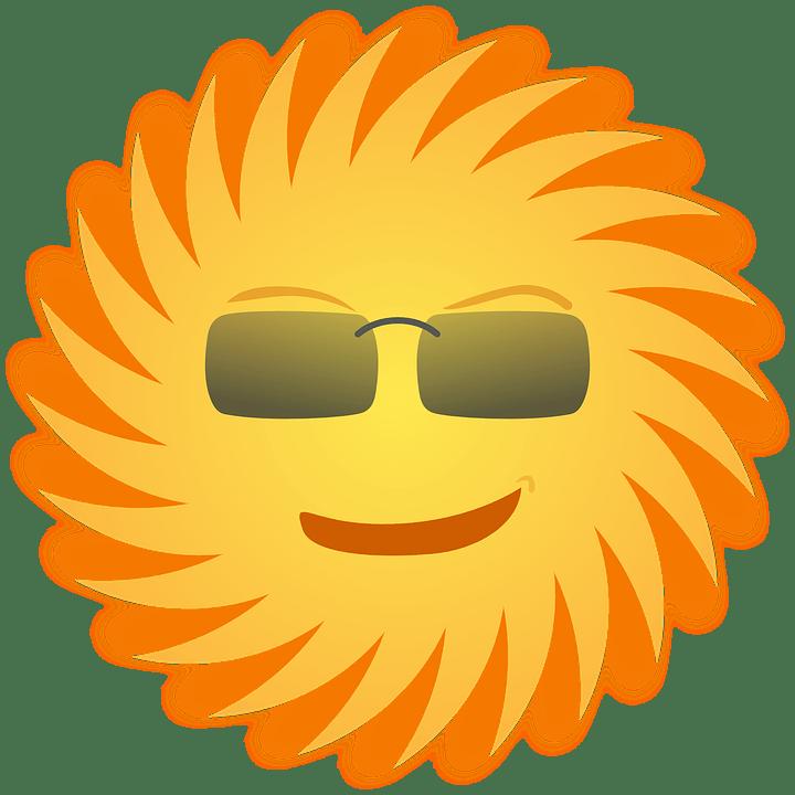 Цветные картинки веселого солнца с лучиками для детей 20