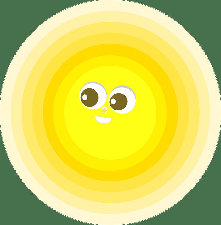 Цветные картинки веселого солнца с лучиками для детей 22