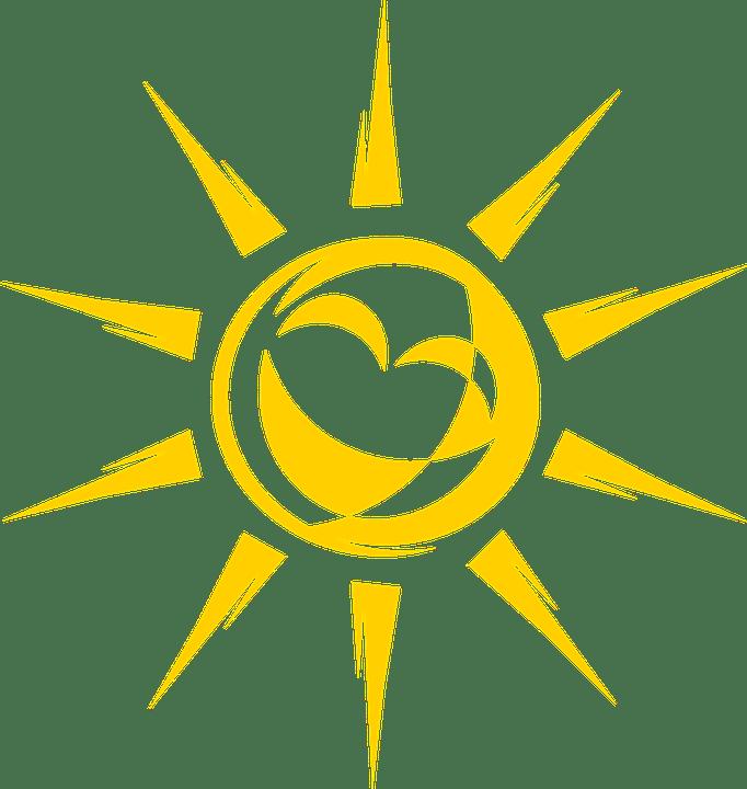 Цветные картинки веселого солнца с лучиками для детей 16