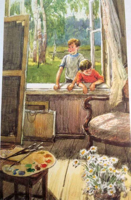 Сочинение-описание картины Е. В. Сыромятниковой «Первые зрители» 2