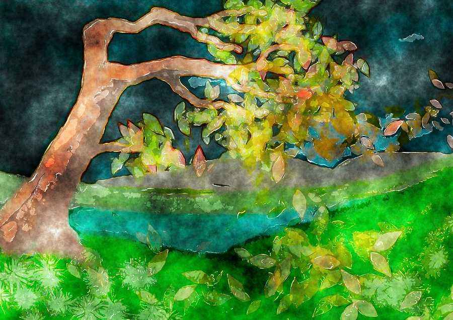 Иллюстрации к стихотворению листок тютчев