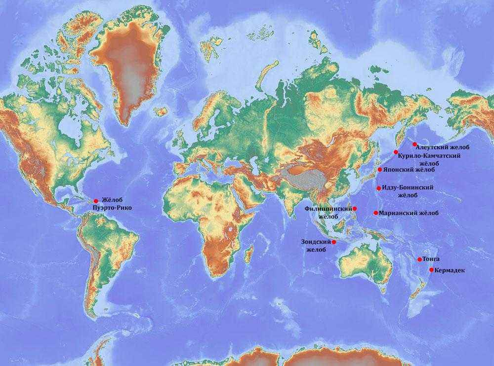 ТОП 10 глубочайших точек Мирового океана - названия, характеристика и карата 2