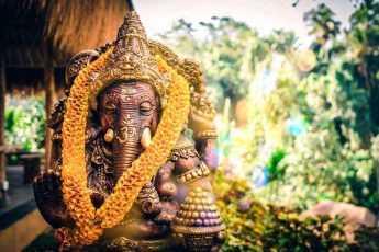 священное животное, слон, индия, статуя, фото