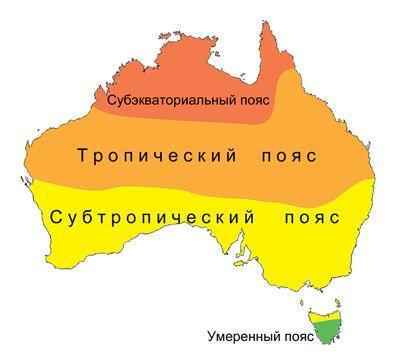 Какой климат в Австралии? Описание, типы, карта и таблица 2