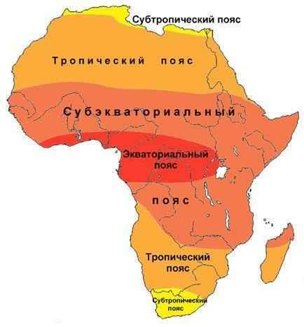 Какой климат в Африке? Описание, типы, карта и таблица 2