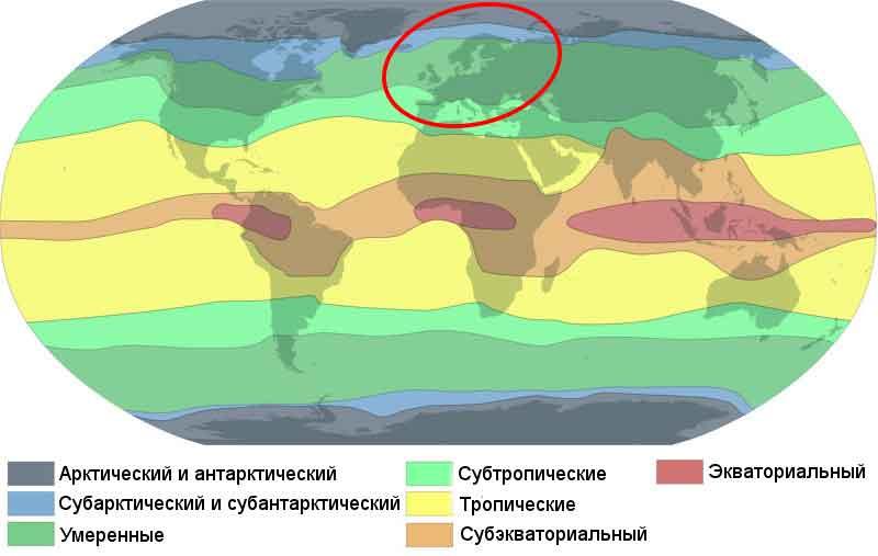 Какой климат в Европе? Описание, типы, карта и таблица 2