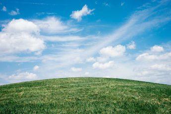 небо, облака, воздух, земля, трава