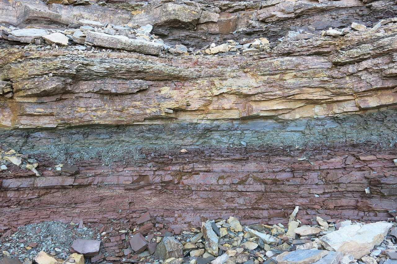 осадочные породы, слои, камни, горные породы